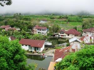 Salah sudut Nagari Pandai Sikek dilihat dari ketinggian.Gambar: Milik Sendiri