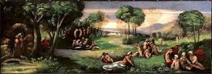 Pemandangan di dalam Elysium menurut Mitologi Yunani